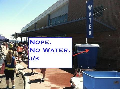 Half Marathon water