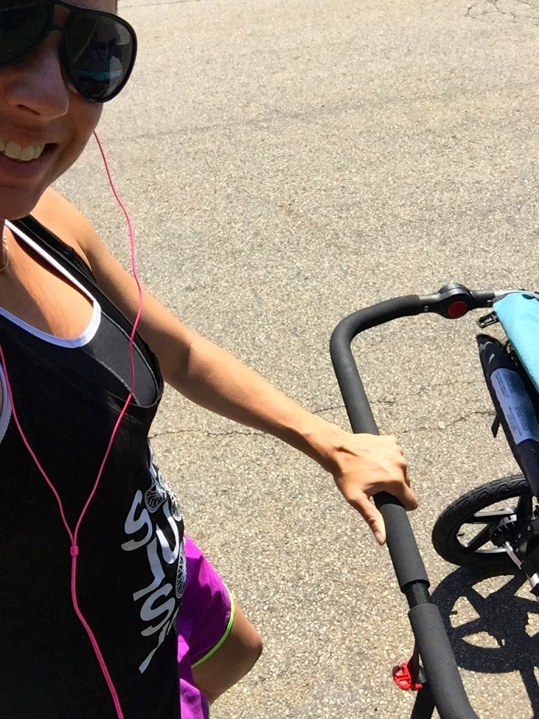 preggo runner with stroller